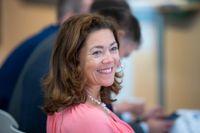 Mediekoncernen Schibsted, med koncernchef Kristin Skogen Lund, gick bättre än väntat i första kvartalet. Arkivbild