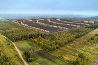 Illustration över hur Northvolts batterifabrik i Skellefteå ska se ut.