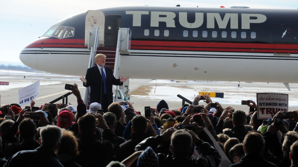 Donald Trump under valkampanjen 2016.