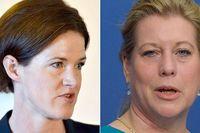 Två av de hetaste kandidaterna till partiledarposten, Anna Kinberg Batra och Chatarina Elmsäter Svärd.