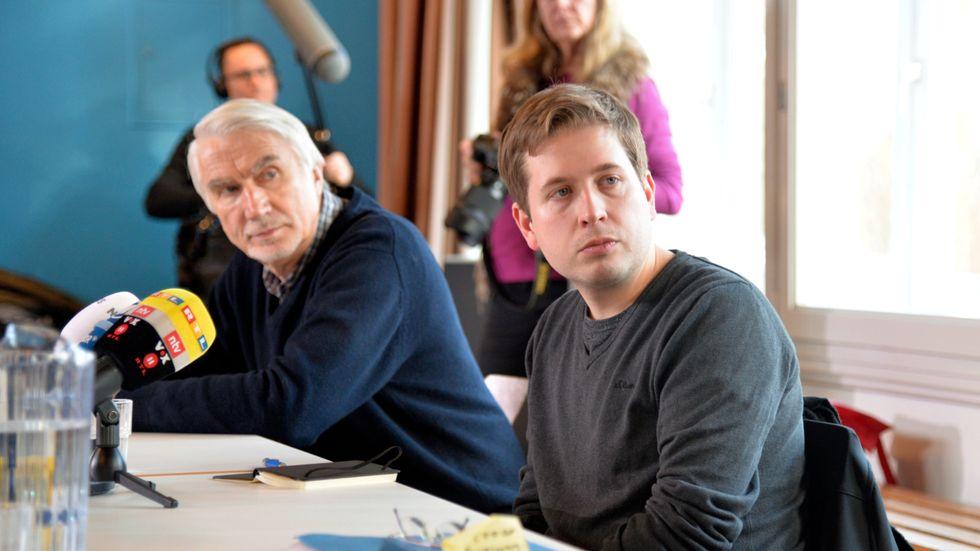 Kevin Kühnert, ordförande för tyska Socialdemokraternas ungdomsförbund Jusos, vid ett kampanjmöte i Hamburg.