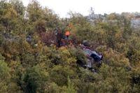 Platsen där en helikopter störtade den 31 augusti. Arkivbild.
