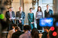 2018 och 2019 års Nobelpristagare bereddes av en Nobelkommitté där Rebecka Kärde, Mikaela Blomqvist och Henrik Petersen var tre av då fem externa medlemmar. I den nya kommittén sitter endast ledamöter från Svenska Akademien. Arkivbild.