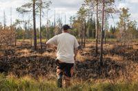 """Morten Brandfjell från Brändåsen är på plats vid Trängslet för att hjälpa till med det som går. """"Här kan man i alla fall göra nåt"""", säger han."""