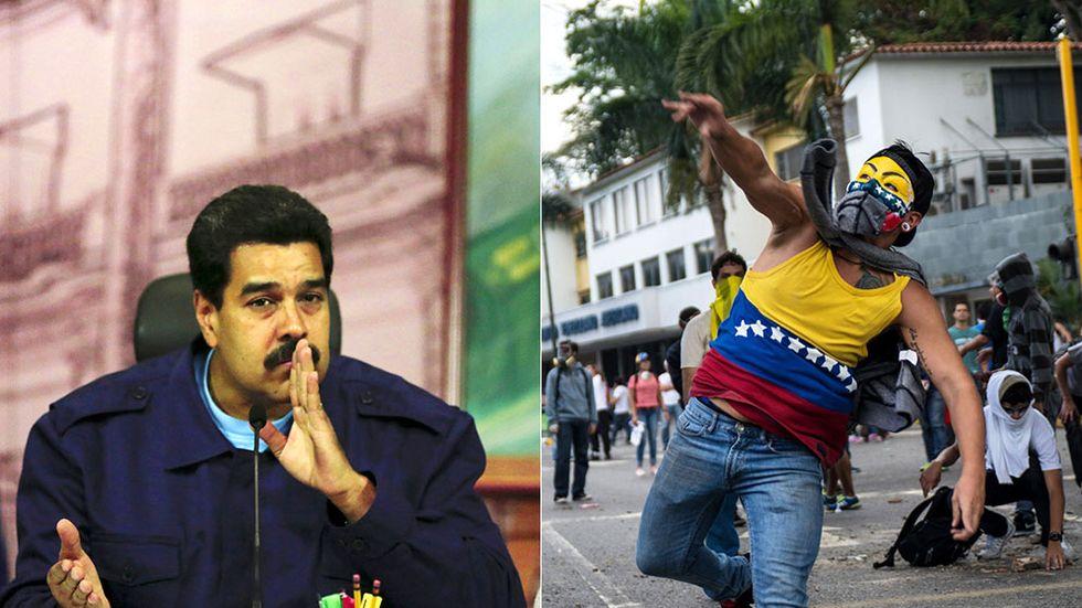I våras pågick protester mot president Nicolás Maduro i flera månader.