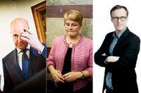 Statsminister Fredrik Reinfeldt och tidigare näringsministern Maud Olofsson. Till höger SvD:s Andreas Cervenka.