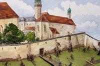 Stormningen av Peuerbach. Illustration: Gerhard Anzinger