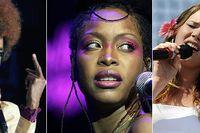 Soulstjärnor som kommer till Jazzfestivalen i sommar: Lauryn Hill, Erykah Badu och Joss Stone.