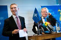 Jens Stoltenbergs Nato välkomnar Sverige som medlem i Europas gemensamma försvar.