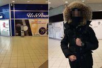 22-åringens exklusiva jacka har dubbla pälskragar vilket gjort det enklare för polisen att identifiera den på övervakningsfilmer. Bilden påträffades i 22-åringens mobil och togs en timme före dådet.