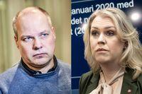 Ministrarna Morgan Johansson och Lena Hallengren får kritik för sin inställning till narkotikapolitiken av debattörerna Christina Gynnå Oguz och Björn Fries.