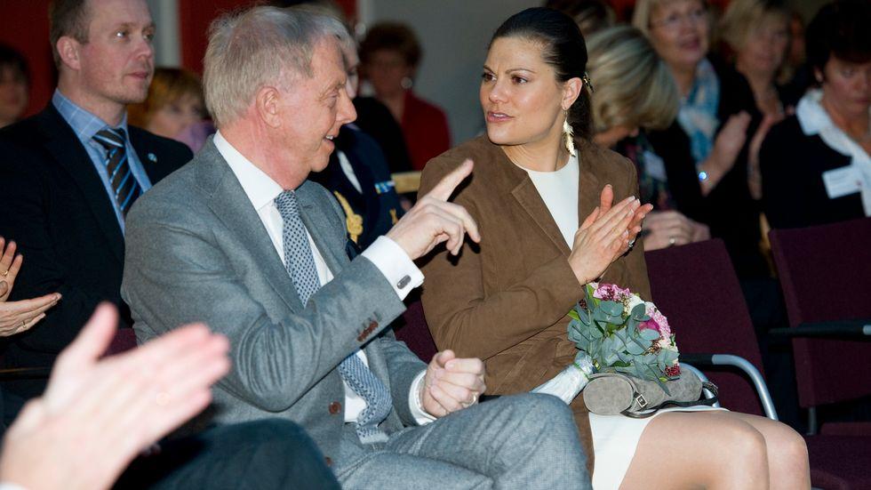 Bertil Hult och kronprinsessan Victoria.