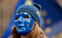 Tysklands linje i EU-frågan kommer att bli avgörande för unionens framtid. Arkivbild från pro-europeisk demonstration i Storbritannien i fjol.