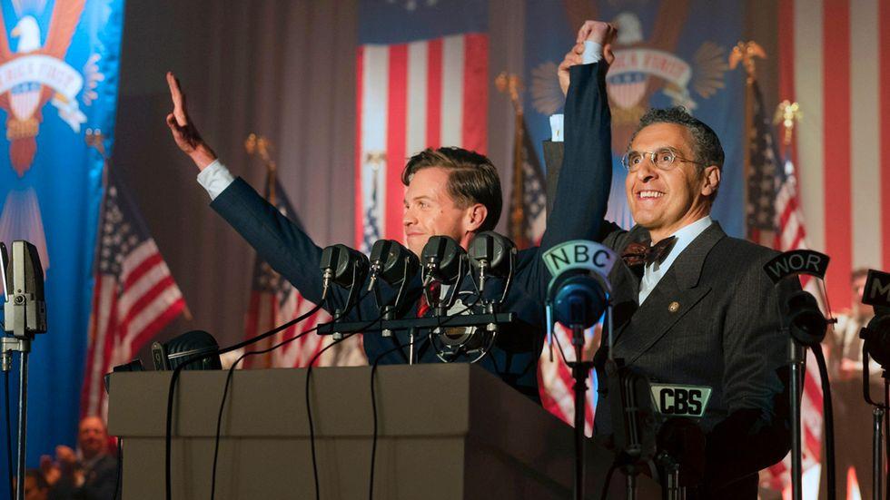 """Ben Cole som president Charles Lindbergh i tv-serien """"The plot against America""""."""