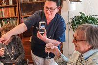Maj Aspegren firade sin 100-årsdag på ett lite annorlunda sätt – virtuellt.