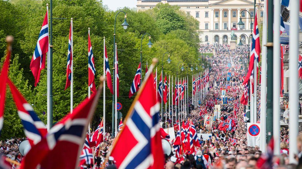 Karl Johan i Oslo den 17 maj.