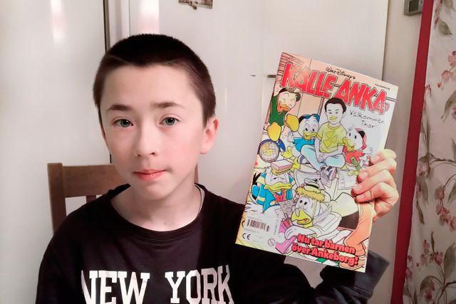 Thor älskar att läsa, speciellt serier. Han har prenumererat på Kalle Anka sedan han var fyra år.