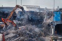 Nej, återvinning av betong löser inte cementbristen. Arkivbild.