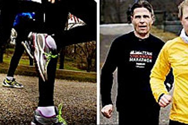Anna Loverus och Jan Westberg ger järnet under ett tufft kvalitetspass med maratonexperten Anders Szalkai.