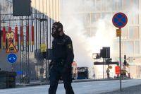 Bussbranden inträffade utanför Klaratunneln i söndags.