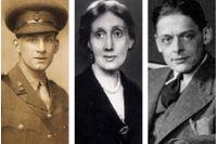 Märkta av första världskriget: Siegfried Sassoon, Virginia Woolf och TS Eliot.