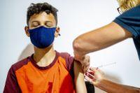 Pfizer-Biontech skriver i ett pressmeddelande att tester visat att deras vaccin mot coronaviruset är säkert och ger ett robust immunsvar hos barn från fem till elva år. Arkivbild.