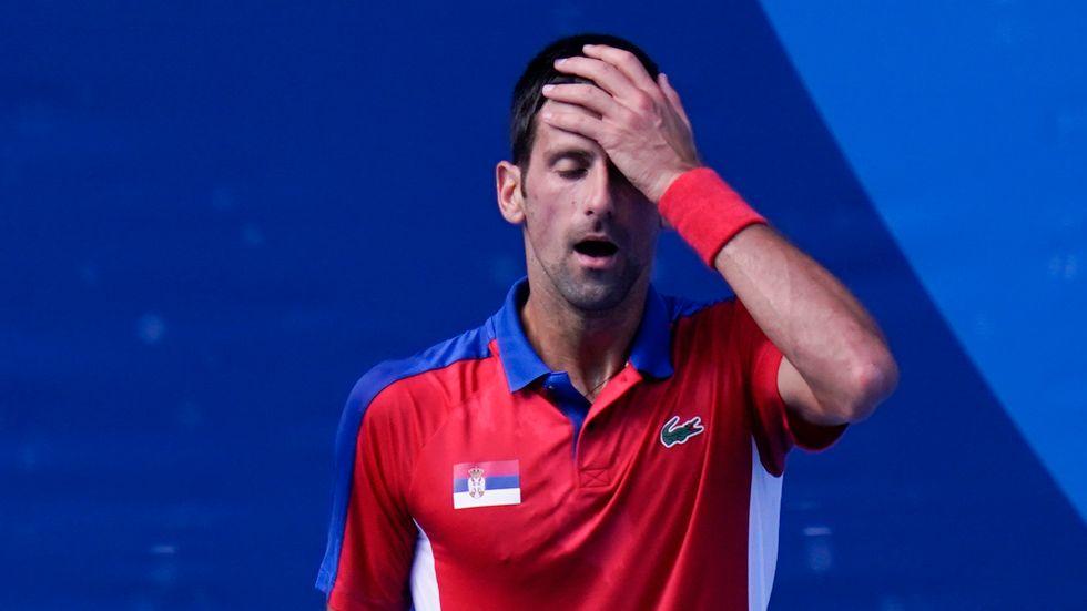Novak Djokovic förlorade bronsmatchen och får ingen medalj i singel.
