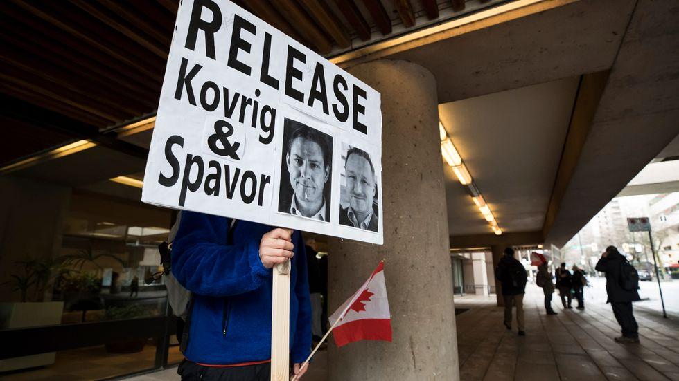 De två kanadensiska medborgarna greps i Kina i december 2018. Arkivbild.