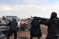 Bilden tagen från en IS-video visar IS-stridande under slutstriden om staden al-Baghuz. Arkivbild.