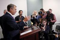 Representanthusets avgående talman John Boehner.