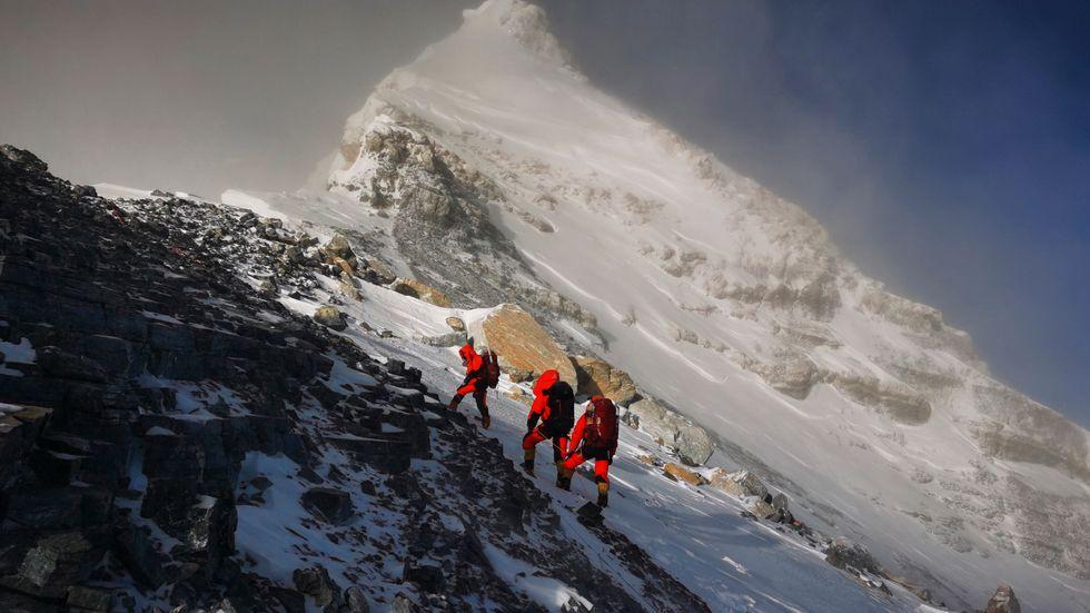 Mount Everest från den kinesiska sidan. Arkivbild.