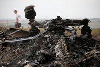 Vraket efter MH17 i Grabovo i östra Ukraina.