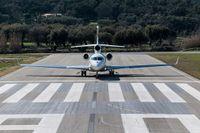 Falcon 7X, det privatflyg som SCA använder.