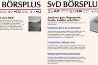 """Bilden visar exempel på hur de olika mejlen ser ut. Till vänster ett exempel på det gamla formatet med """"ett mejl per analys"""". Till höger varianten med """"ett mejl per dag"""" som innehåller länkar till 2–4 dagsfärska analyser och kommentarer."""