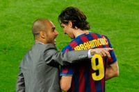 Guardiola och Ibrahimovic från Zlatans tid i barcelona.