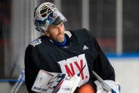 Henrik Lundqvist laddade inför nästa säsong med att träna med andra NHL-spelare i Frölundaborg, Göteborg, i somras. Arkivbild.