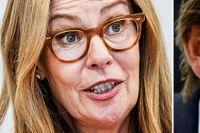 Birgitte Bonnesen, den brottsmisstänkta senaste vd:n och Michael Wolf, tidigare vd.