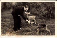 Adolf Hitler matar rådjur, vykort från 1930-talet.