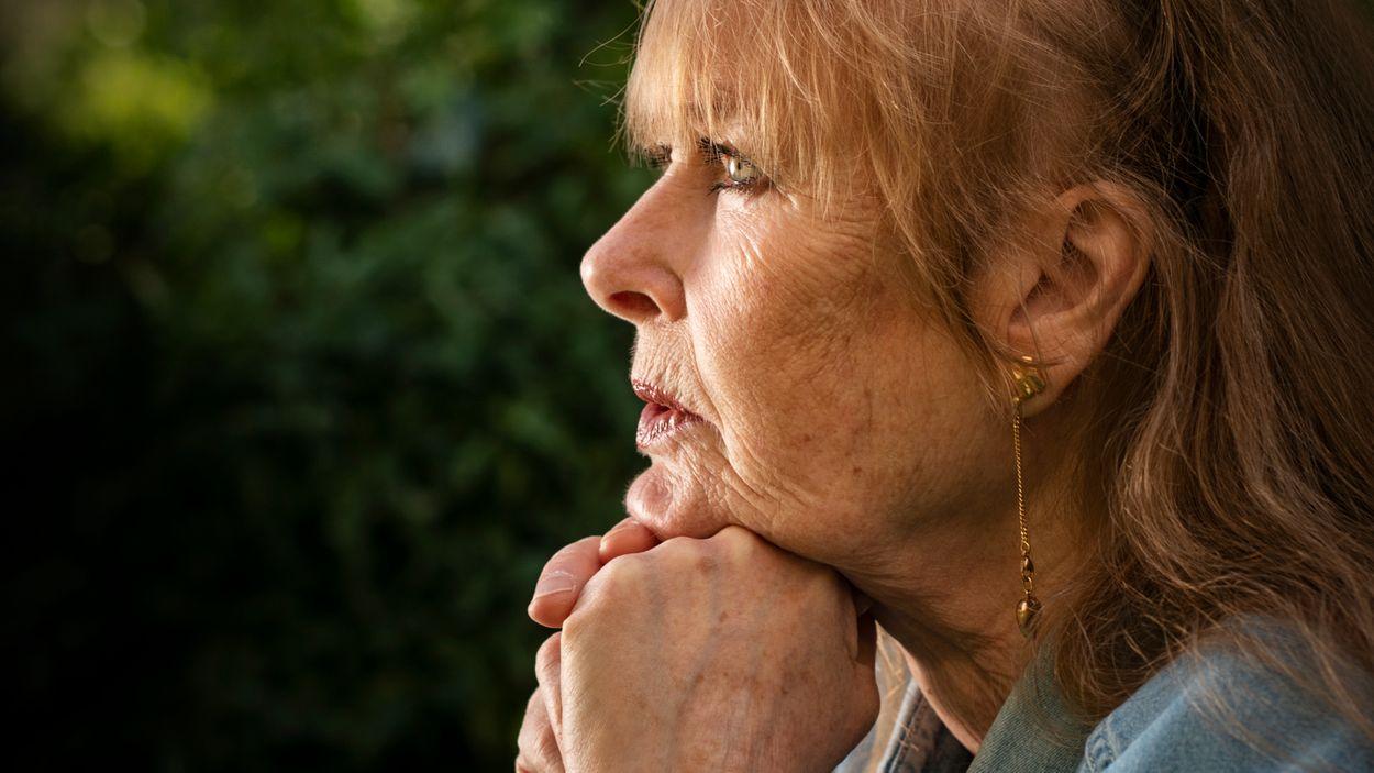 """""""Gösta såg det hela väldigt praktiskt: man lever och man dör, det är inget man kan göra något åt. Bara att säga så får jag ju jätteångest av"""", säger Marie-Louise Ekman."""