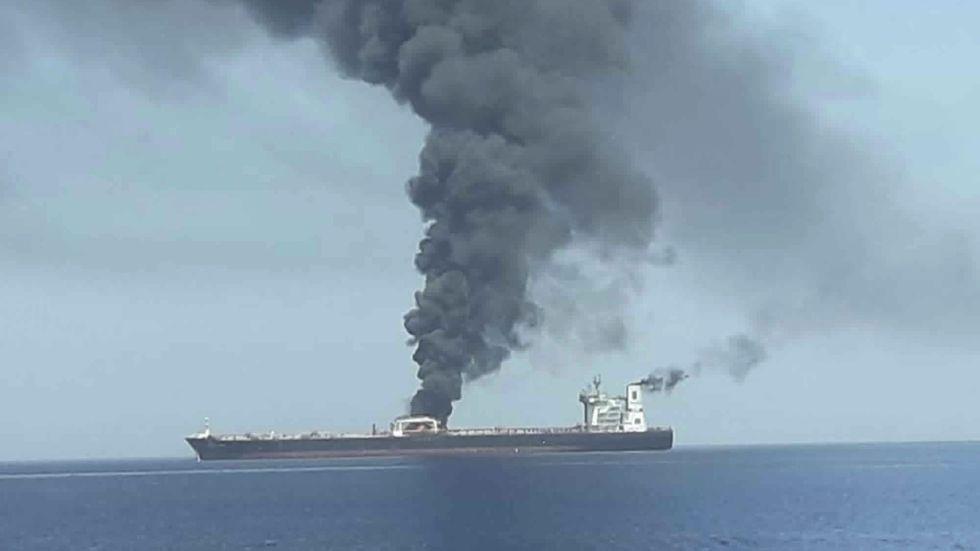Ett av de attackerade fartygen på torsdagen.