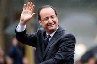 François Hollande hade vädrets makter mot sig redan i början av sina fem år som president. Bild från Champs-Élysées i samband med maktskiftet den 15 maj 2012.