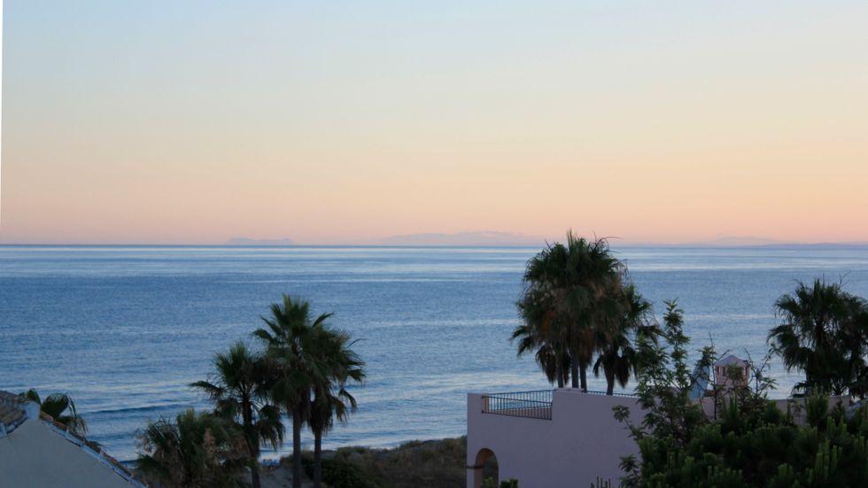 Utsikt mot havet i Marbella i södra Spanien. Arkivbild.