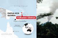 Vulkanutbrott på Papua Nya Guinea