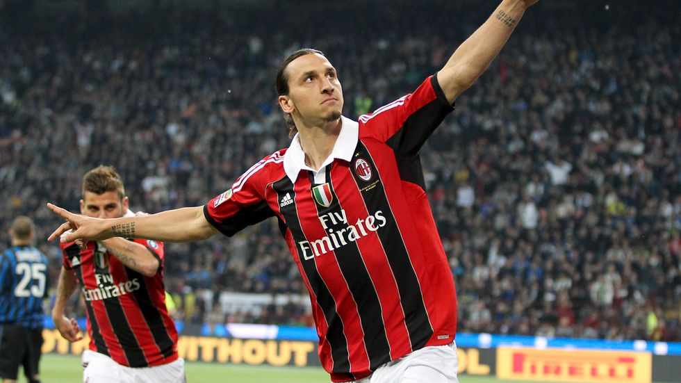Zlatan Ibrahimovic är tillbaka i AC Milan. Arkivbild.