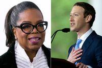 Oprah Winfrey och Mark Zuckerberg är två av många amerikanska kändisar som omnämns i diskussionerna om nästa kandidatur till Vita huset.
