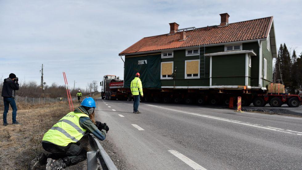 Flytt av kulturbyggnader i Kiruna.