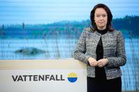 Vattenfalls vd Anna Borg presenterar företagets delårsrapport. Arkivbild.