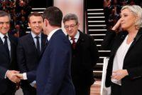 MarineLe Pen (till höger)och François Fillon (till vänster) har meddelat att de avbryter sina kampanjer.