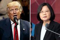 USA:s blivande president Donald Trump och Taiwans president Tsai Ing-wen.