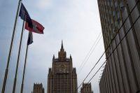 Det ryska utrikesdepartementet huvudbyggnad i Moskva. Arkivbild.
